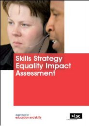 skills strategy equality and diversity impact ... - 5050vision.com