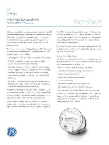 fact sheet - GE Digital Energy
