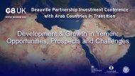 Development & Growth in Yemen - IDB Group Business Forum