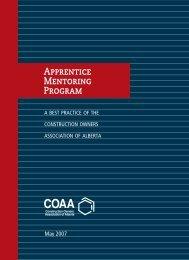 Apprentice Mentoring Program - Construction Owners Association of ...