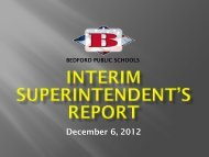 Monthly Report - Bedford Public Schools