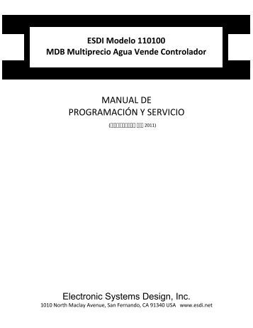 Model 110100 Manual de Programación y Servicio - Electronic ...