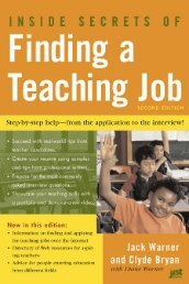 Inside Secrets of Finding a Teaching Job: The Most Effective Search ...