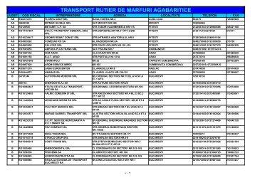 TRANSPORT RUTIER DE MARFURI AGABARITICE