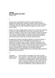 LEE BAE QUATTRO GRADI DEL NERO Artsenal ... - Mario Rotta