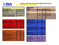 RoHS and Pb-Free Component Material Declaration - KOA Speer ...