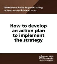 How to develop an action plan - WHO Western Pacific Region ...