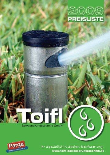 Ihr Spezialist in Sachen Bewässerung! - Toifl GmbH