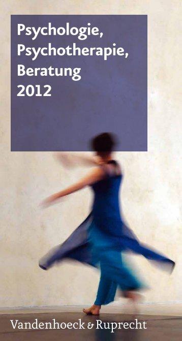Psychologie, Psychotherapie, Beratung 2012