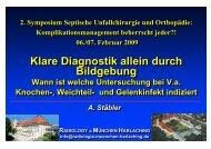 A. Staebler Diagnostik durch Bildgebung - Septische Chirurgie