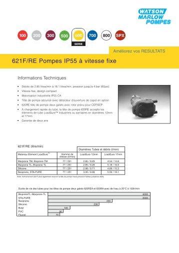 621F/RE Pompes IP55 à vitesse fixe - Watson-Marlow GmbH