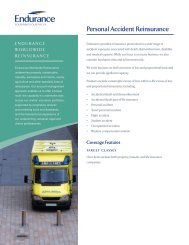 Personal Accident Reinsurance - Endurance Specialty Insurance Ltd.