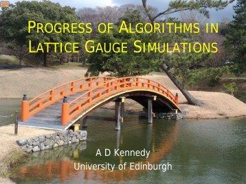 Progress of Algorithms in Lattice Gauge Simulations