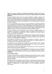 1 Orden de 4 de junio de 2007, de la Consejería de Educación y ...