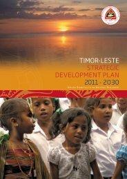 Strategic Development Plan - Governo de Timor-Leste