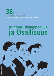 Kuntoutuspäivien ohjelma (pdf) - Kuntoutussäätiö