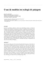 64 O uso de modelos em ecologia de paisagens
