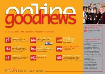 goodnews online Ausgabe 03 2011 - ancotel GmbH