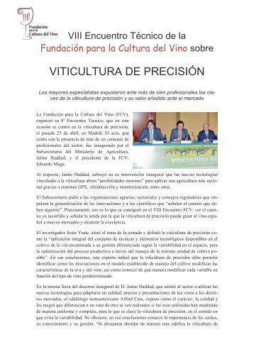 Resumen (PDF) - Fundación para la Cultura del Vino