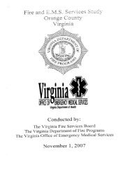 Orange County - Virginia Department of Fire Programs