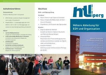 Höhere Abteilung für EDV und Organisation - HTL Perg