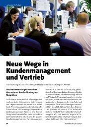 Neue Wege in Kundenmanagement und Vertrieb - Callcenter-Profi