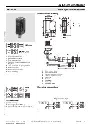 Accessories: Dimensioned drawing Electrical connection KRTW 3B ...