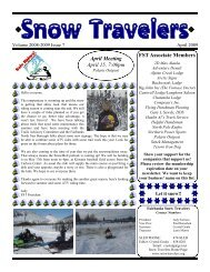 April 2009 - Fairbanks Snow Travelers