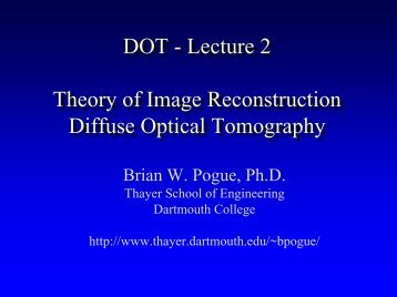 Theory of image reconstruction in DOT