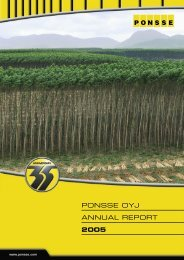 Annual Report 2005 In English - Ponsse