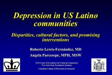 Depression in U.S. Latino communities - New York State Psychiatric ...