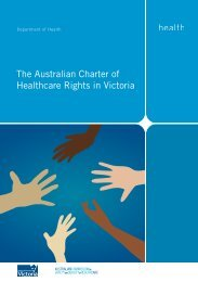 The Australian Charter of Healthcare Rights in ... - health.vic.gov.au