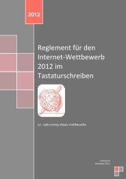 Reglement für den Internet-Wettbewerb 2012 im ... - Intersteno
