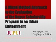A Mixed Methods Approach to Research and Evaluation of the ...