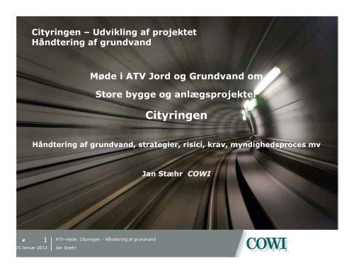 Cityringen - ATV - Jord og Grundvand