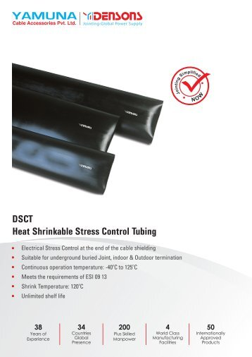 DSCT Heat Shrinkable Stress Control Tubing - Cable Joints, Cable ...