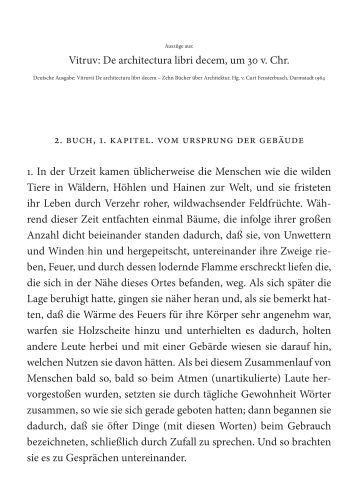 Vitruv: De architectura libri decem, um 30 v. Chr ... - Architekturtheorie