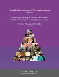 Assessing Learning in Online Education: - National Institute for ...