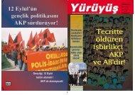 12 EEylül'ün gençlik ppolitikas›n› AKP sürdürüyor!