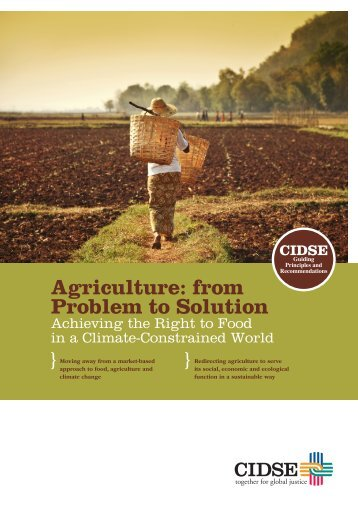 Agriculture: from Problem to Solution Achieving the Right ... - Misereor