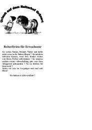 Reiterferien für Erwachsene - Willkommen auf dem Reiterhof Gränert