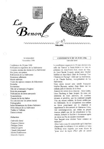 Bénon n° 19 - La Salévienne