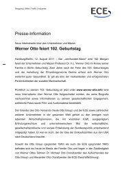 Zur Pressemeldung - Werner Otto