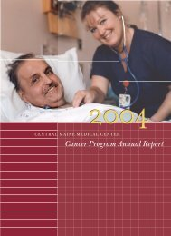 Chairman's Report - Central Maine Medical Center