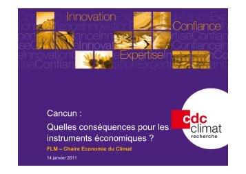 11-01-13 BL FLM Cancun - La Chaire Economie du Climat
