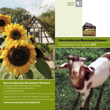 Jahresprogramm 2013 - Museumsdorf Kürnbach