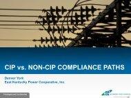 CIP vs. NON-CIP COMPLIANCE PATHS - SERC Home Page