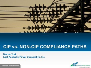 CIP vs. NON-CIP COMPLIANCE PATHS - SERC Home Page