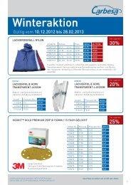 Winteraktion - Carbesa AG