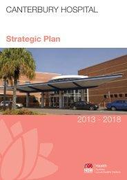 Canterbury Hospital Strategic Plan - Sydney Local Health District